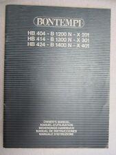Bontempi HB404 B1200 N X 201 414 b1300 x 301 HB424 b1400n  organ owner's manual