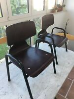 SEDIE PER BAMBINI 50s PAGHOLZ COMPENSATO CURVATO RARE CURVED PLYWOOD CHAIRS