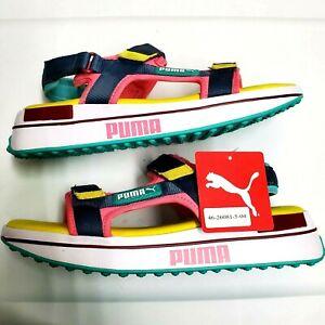 Puma Future Rider Sandal BG 375880-01 Men's Sz 8 NEW W/TAGS summer comfort neon