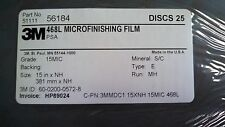 3M MICROFINISHING FILM DISCS 468L 15XNH 15MIC PSA 3MIL PACK OF 25 DISCS
