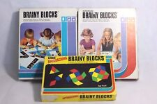Vintage Brainy Blocks Learning Games by Orda - 1970s Shapes Geometry Educational