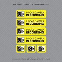 7 x Dash Cam Recording Stickers CCTV In Car Video Camera Decal Sticker - SKU3100