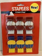 New listing Staples 12 Bind-it Flags