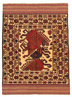 """Vintage Hand-Knotted Carpet 4'2"""" x 5'11"""" Traditional Oriental Wool Area Rug"""