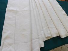 drap PUR fil de lin, 2.98 m X 2.34 m, ancien