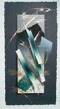 Nishikawa Yoichiro japanese woodblock print, Emergence, ltd ed, listed Modernist