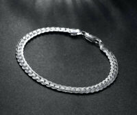 925 Silber Armband Armkette Silberarmband Panzerkette Massiv Herren Damen Neu