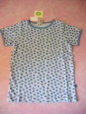 Smafolk Dänemark Kurzarm T-Shirt Bluse Hellblau  Gr.92 / 98 Micro Äpfel