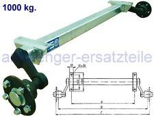 HGW 1000 kg. Achse ungebremst - AM: 1300 mm  AS: 5*112