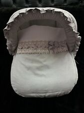 Brand new Spanish grey baby 0+ car chair cover with hood
