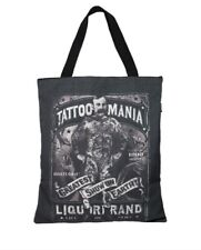 Liquor Brand Canvas Tote Bag Tattoo Mania Tattooed Man Snakes Punk Rockabilly