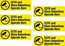 6x CCTV Store Detectives Printed Vinyl Sticker Label Shelf Edge Shop Off Licence