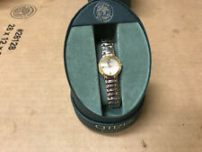Ladies Citizen Stiletto Eco-Drive Two-Tone Gold Silver SS Watch