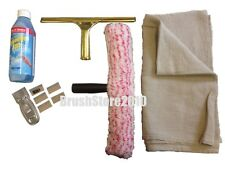 PROFESSIONAL WINDOW CLEANING KIT ETTORE SQUEEGEE LIQUID SCRAPER UNGER SCRIM