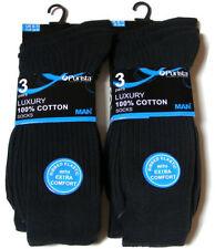 Calcetines de hombre en color principal negro 100% algodón