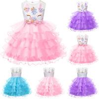 Flower Girl Toddler Kids Princess Dress Party Pageant Wedding Tulle Tutu Dresses