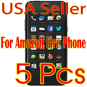 5x  Amazon Fire Phone Screen Protector Film High Definition (HD) Clear