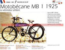 MOTOBECANE MB1 ( MB 1 MB-1 ) 1925 Fiche Moto 000219