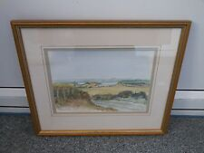 Original watercolour of Stoborough Heath in Dorset by Karen Fielding