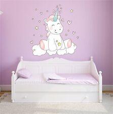 Sticker mural muraux autocollant chambre d'Enfants à coucher Licorne CUTIE