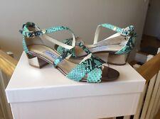 Jimmy Choo Women's Shoes Heels Sandals snakeskin MERIT Crisscross Sz 36 NIB