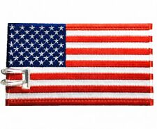 USA Flag Embroidered Luggage Tag (NEVER BREAKS!)