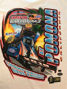 NHRA DRAG RACING 2019 WINTER NATIONALS WHITE T- SHIRT  SIZE 2X