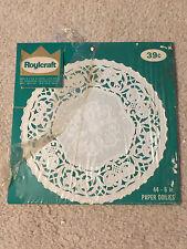 """Roylcraft 1 10"""" Paper Doilies White Vintage"""
