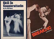 Pu Gill Gwon Art of Breaking Skill in Counterattacks 2 PB Lot Martial Arts VG