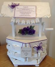Wedding Wishing Well  Card Money Posting Box  Hand Made Wooden Bespoke Keepsake