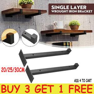 1PC Heavy Duty Industrial Rustic Solid Steel Scaffold Board Shelf Brackets AU