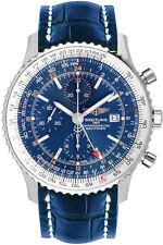 A2432212/C651-747P | NEW AUTHENTIC BREITLING NAVITIMER WORLD BLUE GMT MENS WATCH
