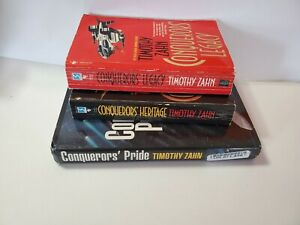 Lot 3 BOOKS by Timothy Zahn Conqueror's Legacy, Heritage and Pride