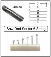 GuitarTechs Nut Slotting SAW ROD SET for use w/ our 6 String Nut Slot File Kit