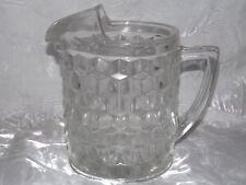 Vintage American Fostoria Clear Glass Ice Lip Beverage Water Pitcher