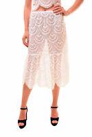 For Love & Lemons Women's Unique Rosalita Midi Skirt White Size L RRP £194 BCF78