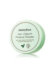 INNISFREE No Sebum Mineral Powder Loose 5g Oil Control - Free Sample *UK Seller*