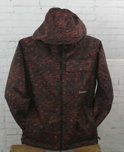 O'Neill Boys Youth Grid Snowboard Jacket Size 10 / 152 Red AOP Black New