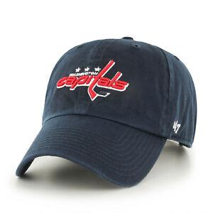 NHL Washington Capitals Baseball Cap 47Brand Adjustable Cleanup Navy