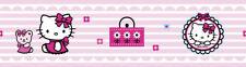 Hello Kitty Tapetenbordüre , Dekoration Kinderzimmer, Selbstklebend