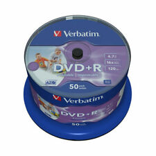Verbatim 16x DVD+R Wide Inkjet Printable Discs - 4.7GB - 50 Pack Spindle