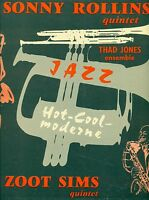 "SONNY ROLLINS THAD JONES ZOOT SIMS PLAY HARD BOP HOT COOL MODERNE 12"" LP (L8504)"