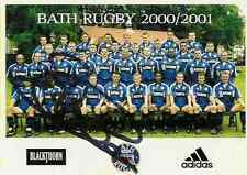 BEN CLARKE ENGLAND AUTOGRAPH ON RUGBY BATH TEAM PROMO CARD - PHOTO OF THE TEAM