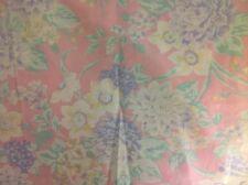 "Daffadoil & blue flowers on pink fabric 5 yards 16"""