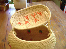 "Warao Indian( Venezuela's Orinoco River Delta) 8"" T x 10"" W  hand woven basket"