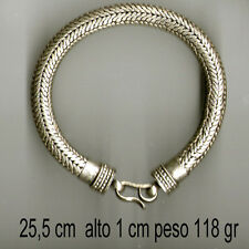bagno argento indiano bracciale 115 gr snake necklace 25 CM  indian silver