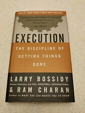 HARDCOVER BOOK : Execution The Discipline of Getting Things Done Bossidy Charan
