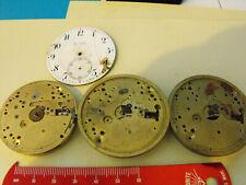 3 vintage Zenith Movimenti Orologio da taschino per ricambi o riparazione vedi foto