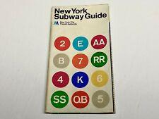 VINTAGE NEW YORK CITY SUBWAY MAP 1972