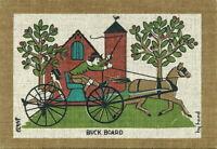 ROBERT DARR WERT Vintage 1950s-60s COUNTRY PRINT Serigraph on Linen BUCK BOARD